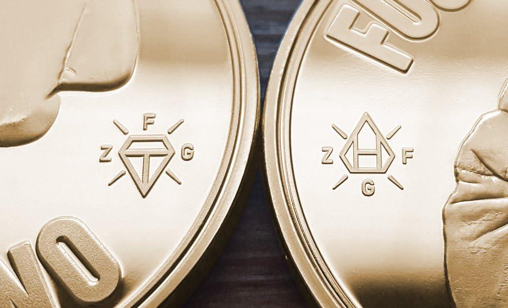 Flying Fucks 10-Pack ZFG Inc Zero Fs Given Giftable Novelty Joke Coins Color Silver