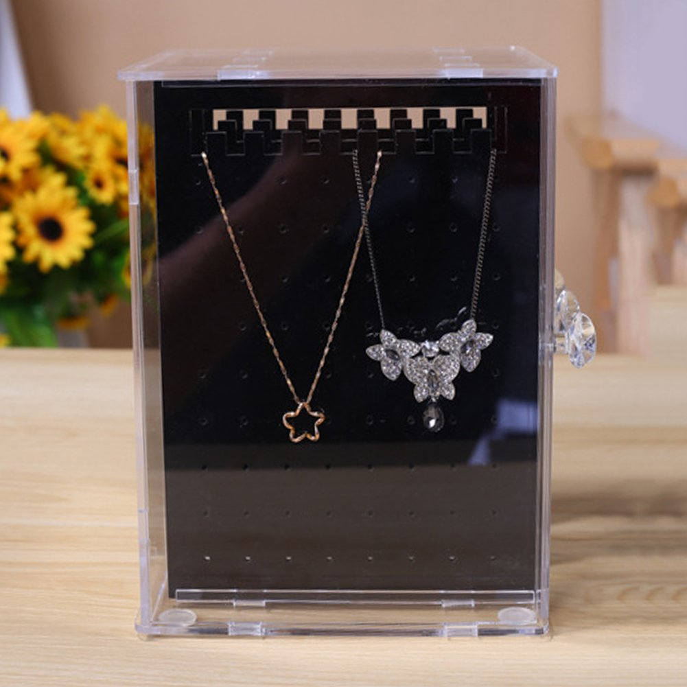 Necklace Storage Case Earring Screen Stand Display Organiser Jewellery Rack Hanger Bracelet Storage Case Clean Acrylic zsl