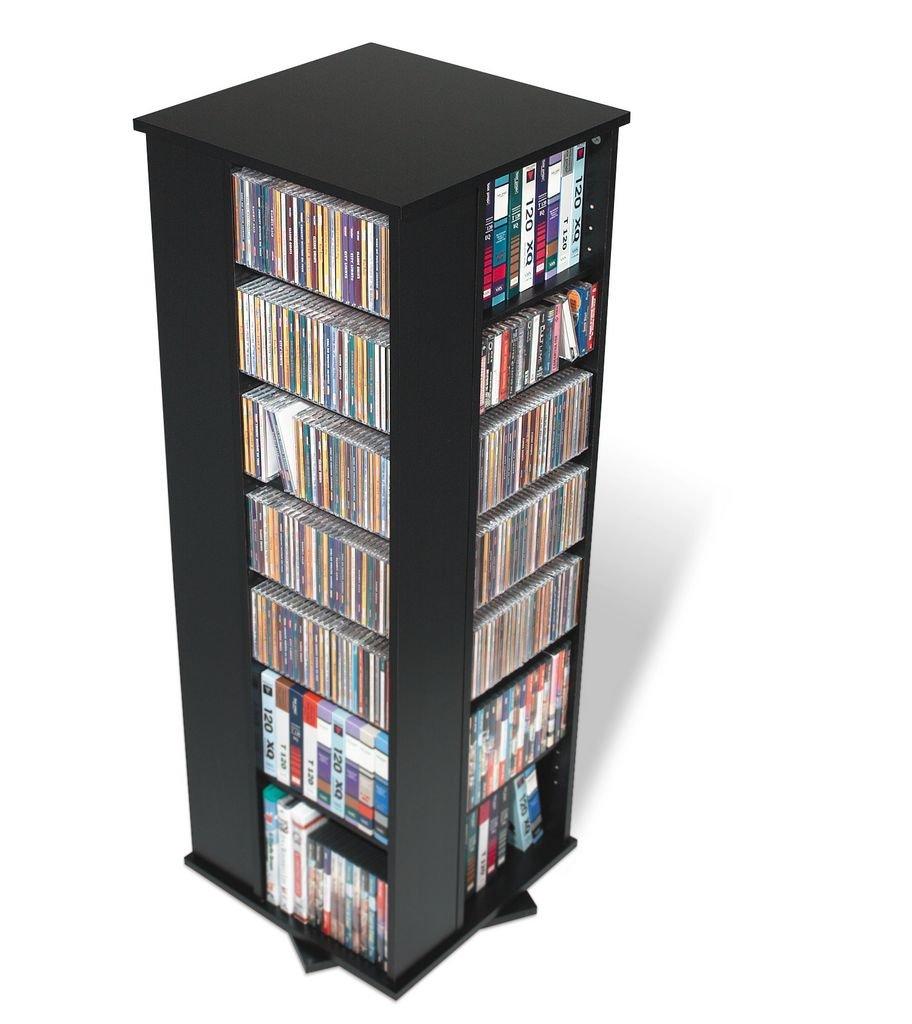 800 CD Multimedia Rack (Black) (52.5H x 18.75''W x 18.75''D)