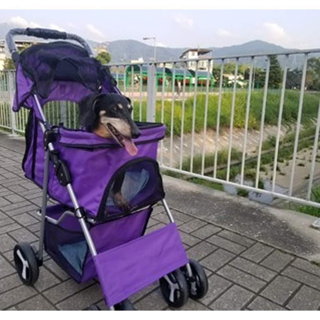 Carrito de 4 ruedas para mascotas, carrito de mascotas para gatos ...