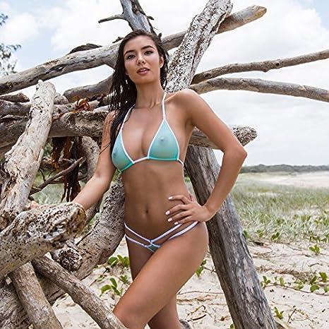 811c1decdb Wicked Weasel Sexy Mojito - Bikini Tops (312) Womens Swimsuits Triangle -  Green - Medium  Amazon.co.uk  Clothing