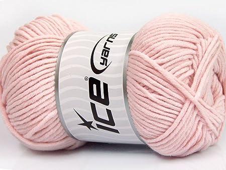 Lote de 4 ovillos de 100 g de lana de hielo (55% algodón ...
