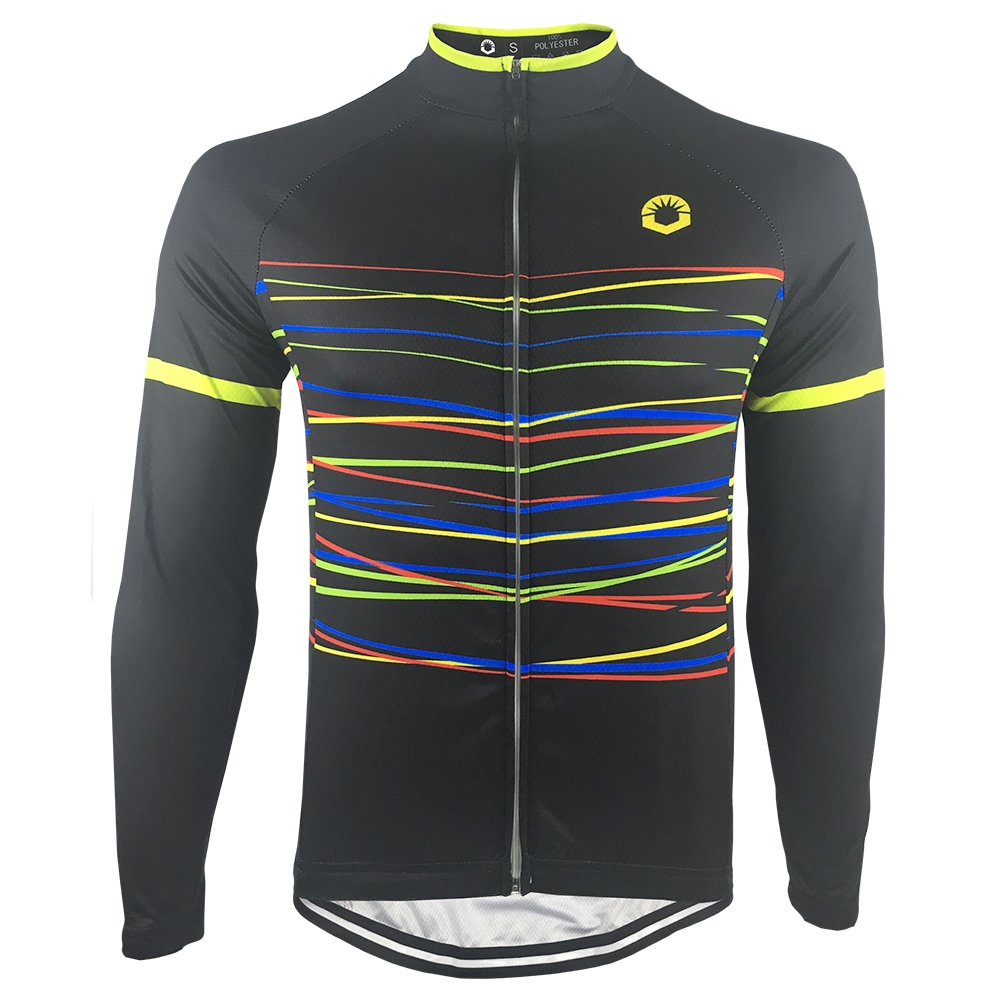 Amazon.com  HIRBGOD Mens Long Sleeve Cycling Jersey Stylish Lightweight Bike  Wear Clothing f29040123