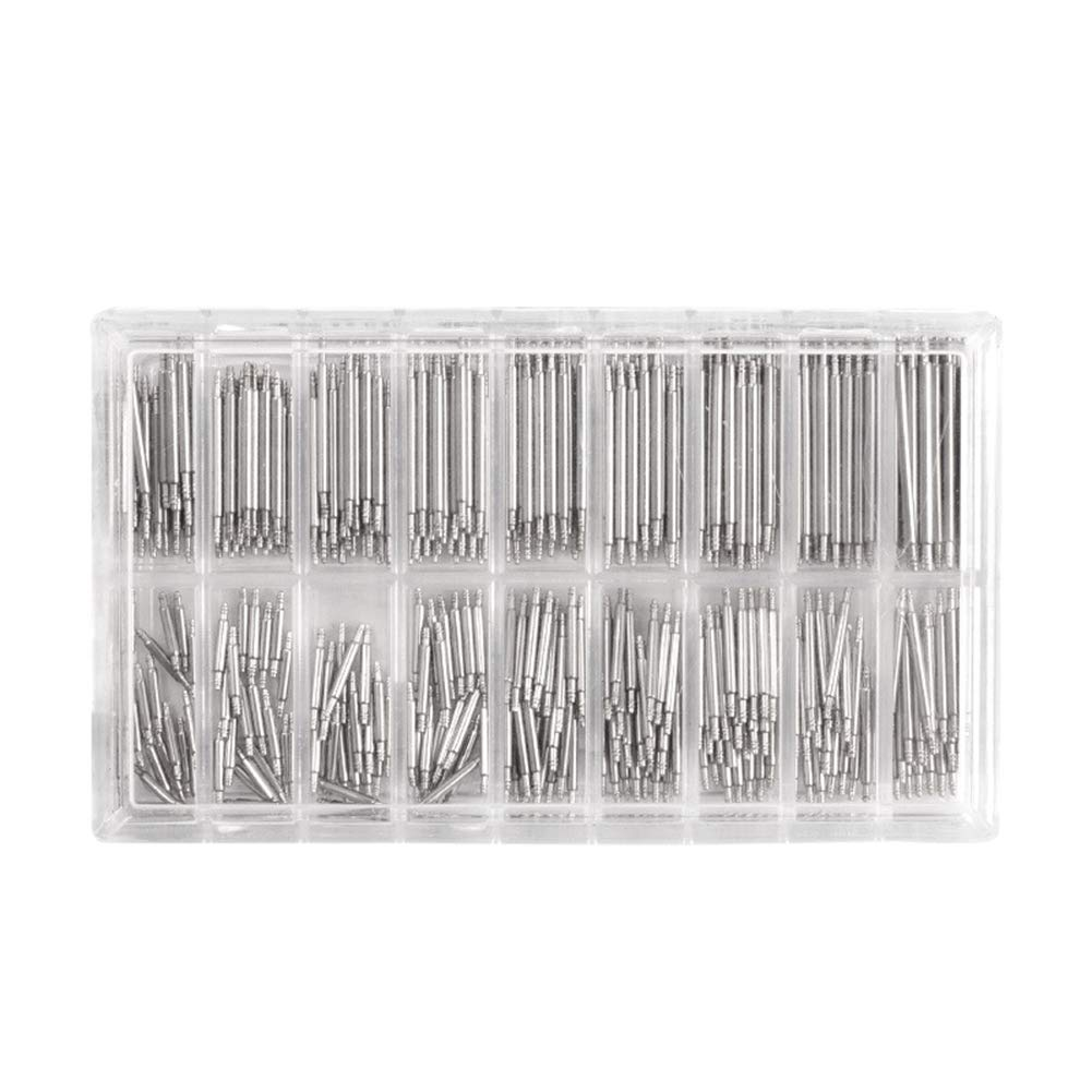 MacRoog Watch Band Spring Bars Strap Link Pins 360pcs Stainless Steel Spring Remover 8-25mm Watch Repair Kits