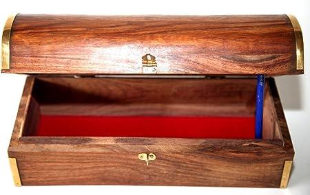 Fantástico Gran caja con forma de cofre de madera caja: Amazon.es: Hogar
