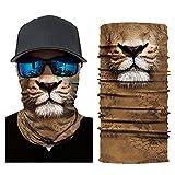 Glumes Face Mask Half Sun Dust Protection|Vivid 3D Animal Tube Mask Seamless|Durable Face Mask|Bandana Skeleton Face Shield|Motorcycle Fishing Hunting Cycling Halloween Party (F)