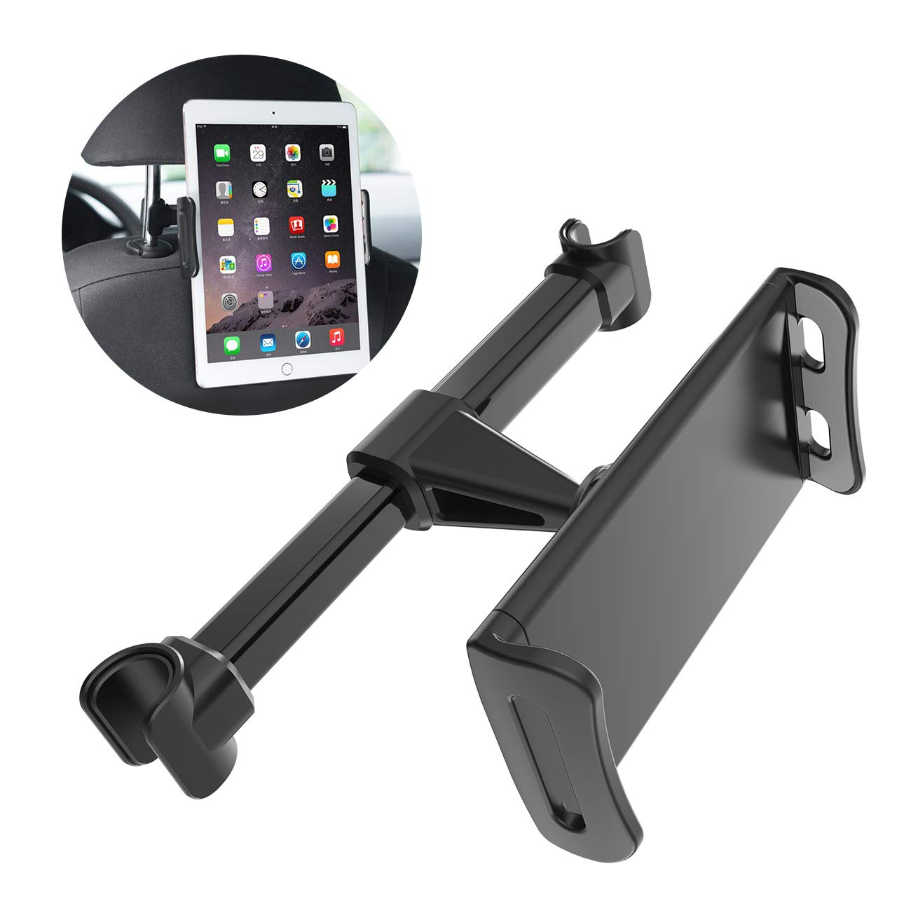 "Car Headrest Mount Seat Tablet Holder for iPad/Samsung Galaxy Tabs/Amazon Kindle Fire HD/Nintendo Switch/Other Devices 4""-11"""