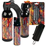 IronHawk Security Signature Bundle - Wildfire Pepper Spray Sampler Pack - Lot of (5) Units - 1/2 oz keychain, 1.5 oz keychain, 4 oz Stream, 9 oz Stream and 1 pound fogger
