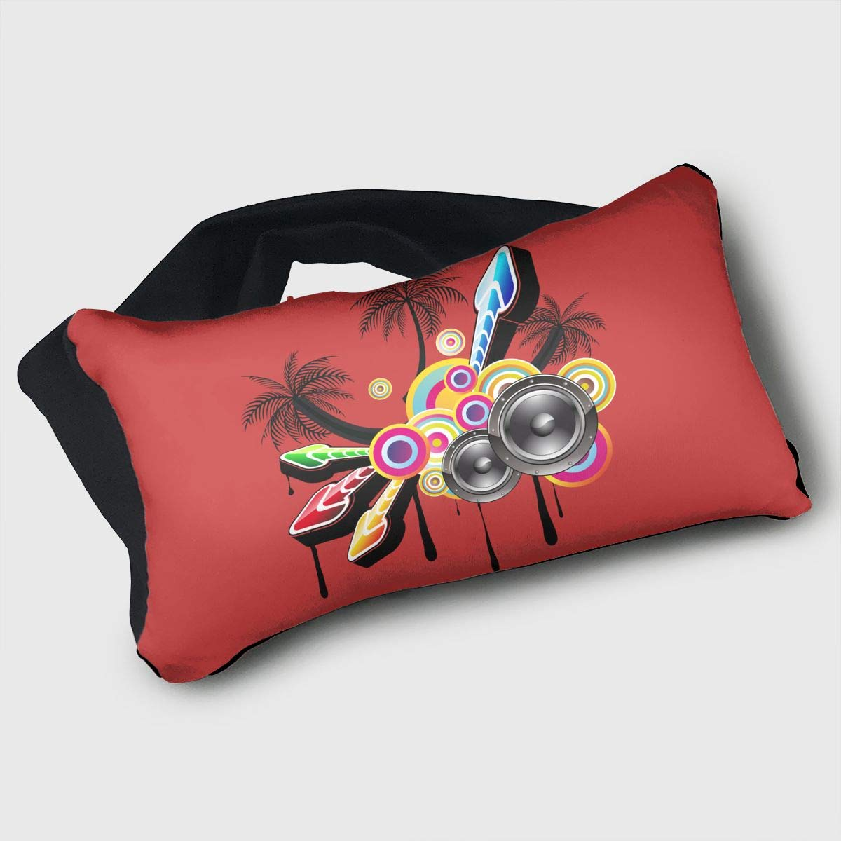 Voyage Travel Pillow Eye Mask 2 in 1 Portable Neck Support Scarf Sound Music Ergonomic Naps Rest Pillows Sleeper Versatile for Airplanes Car Train Bus Home Office