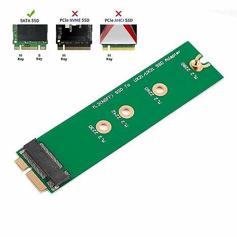 qnine M.2 NGFF SSD disco duro SSD a la tarjeta de adaptador de 18 ...
