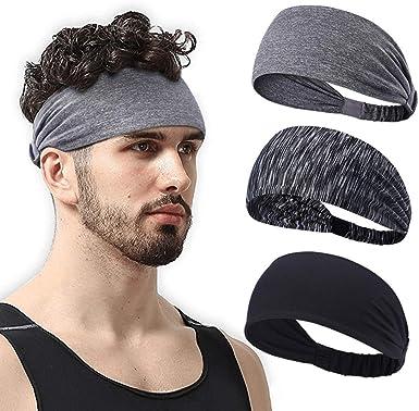 Head Unisex Stretchy Gym Runing Sweatband Hair Band Wide Yoga Sports Headband