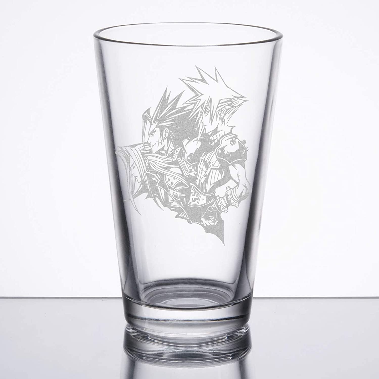 Cloud//Sephiroth Final Fantasy VII Zack Etched Pint Glass