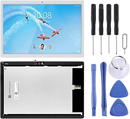 携帯電話の部品 電話の修理キットの付属品Lenovo Tab M10 / Tab 5 Plus TB-X605L TB-X605F TB-X605M TB-X605用のLCDスクリーンおよびデジタイザーフルアセンブリ あなたのプロの携帯電話アクセサリー (色 : 白)