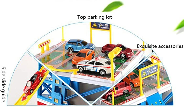 GYAN Juego de Garaje, camión de Bomberos, estacionamiento de Autos ...