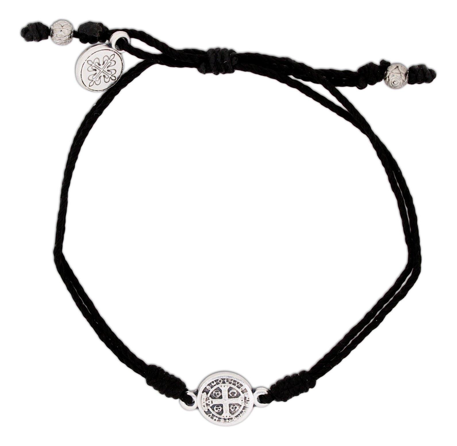 Inspirational Breathe Bracelet, Adjustable (Silver Plated on Black)