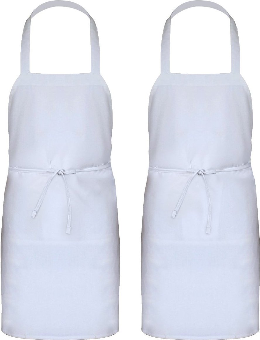 Amazon.com: Utopia Kitchen Professional Bib Apron White (2 Pack ...