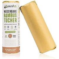 Bambus Allzwecktücher - Küchenrolle - waschbare Haushaltstücher, umweltfreundliche Papiertücher, ersetzt bis zu 60 Haushaltsrollen, saugstärker und reißfester als herkömmliche Küchentücher