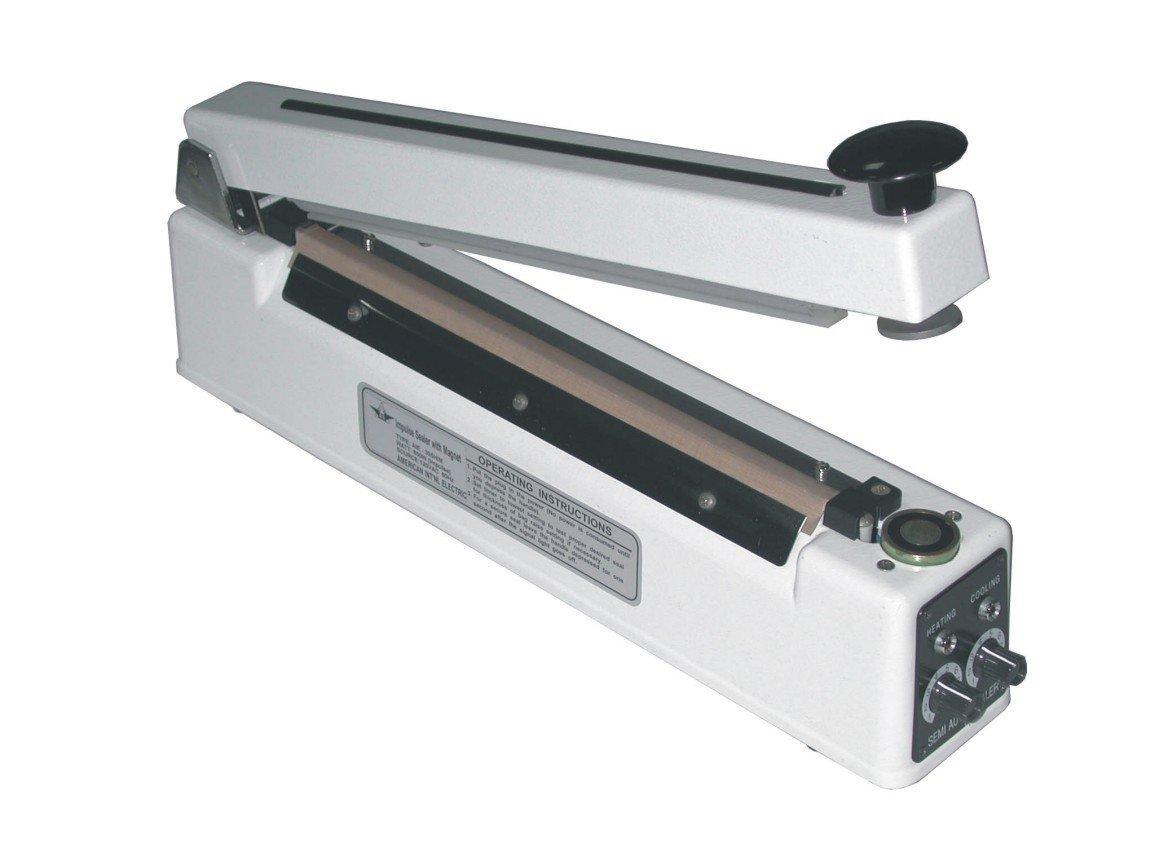 AIE-405HIM 16'' Handheld Heat - Impulse Bag Sealer w/ 5mm Seal & Holding Magnet