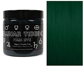 amazon com lunar tides hair dye juniper dark forest green semi