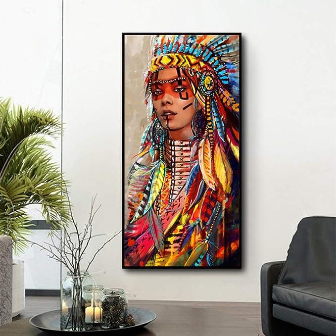 LiMengQi Personalidad de Arte Abstracto Hermosa Imagen de Lienzo Lienzo Moderno de Gran tamaño para Imagen de decoración de Sala de Estar (sin Marco) A1 40x80CM: Amazon.es: Hogar
