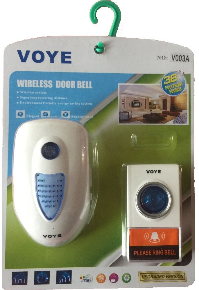 VOYE@ Wireless Digital Doorbell with Remote Control, 38 Ring Tone/Songs Selection (FYD-V003A)