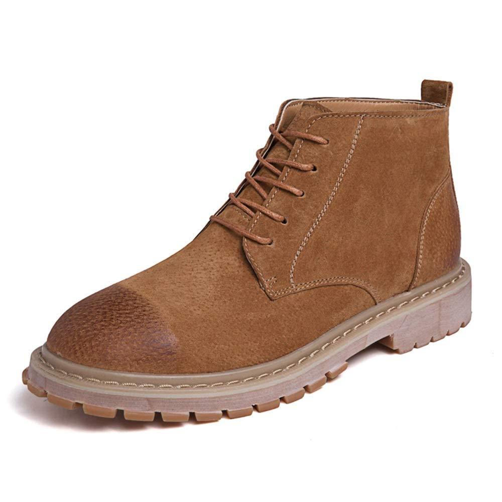 2018 Herren Stiefel Sommer schuhe, Männer Casual Einfach und Komfortabel Klassisch High Top Stiefel Mode Retro Ankle Work Stiefel (Farbe   Braun, Größe   38 EU)