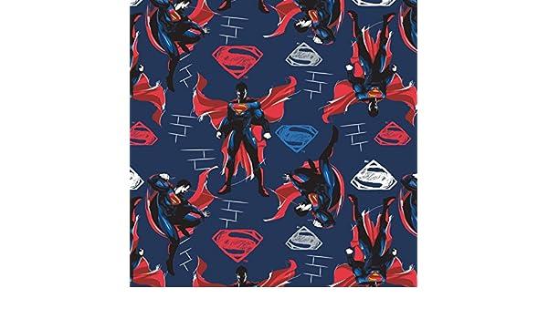 Batman Superman Wonder Mujer Tejido - Superman Batman cuadrados - Tela de cam114 Superhero - Por 0,5 m - 100% algodón Superman Laser Blue CAM116: Amazon.es: ...