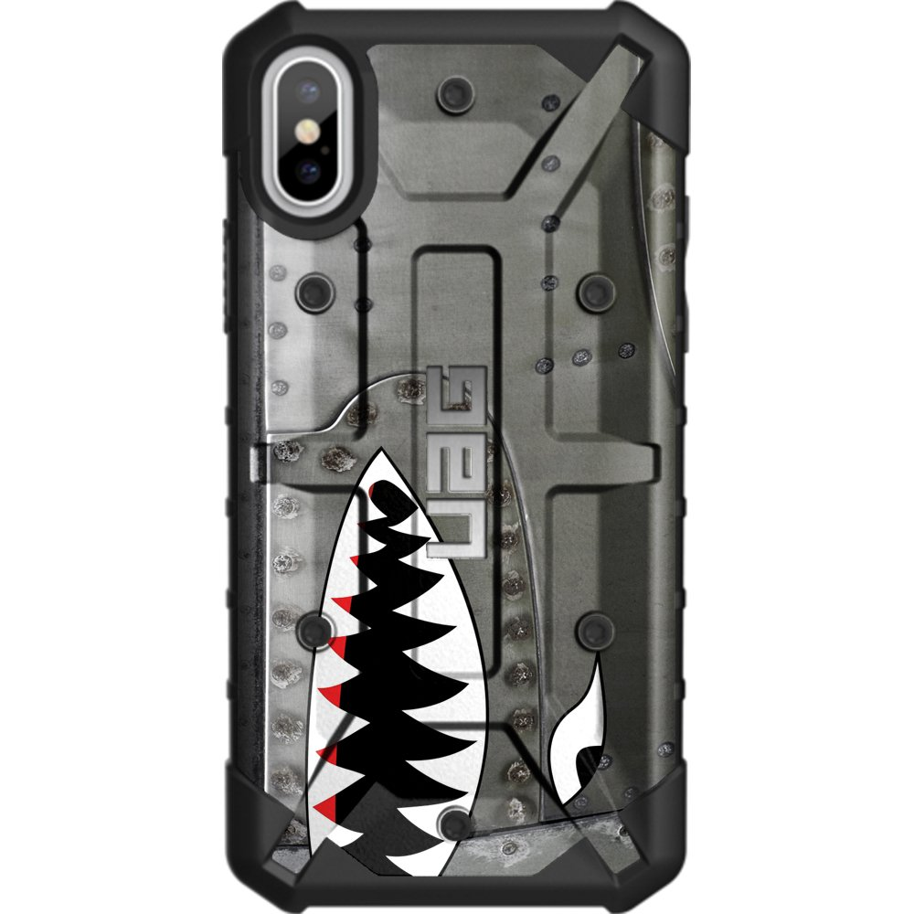 Limited Edition - Customized Designs by Ego Tactical Over a UAG- Urban Armor Gear Case for Apple iPhone X/Xs (5.8'')- A-10 Warthog