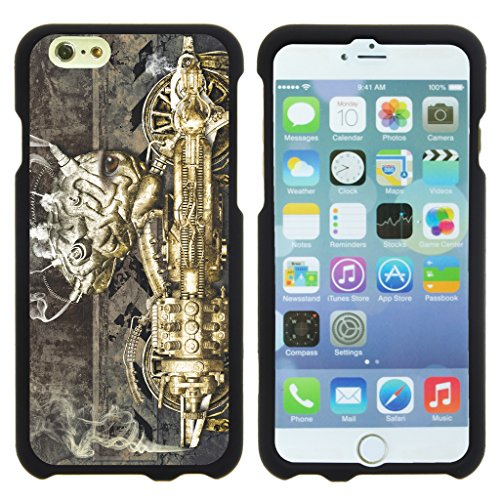 TurtleArmor | Apple iPhone 6 Case | iPhone 6s Case [Slim Duo] Hard Shell Snap On Case Fitted Protector Compact Matte on Black Robot Android Design - Steampunk - Cover Steampunk