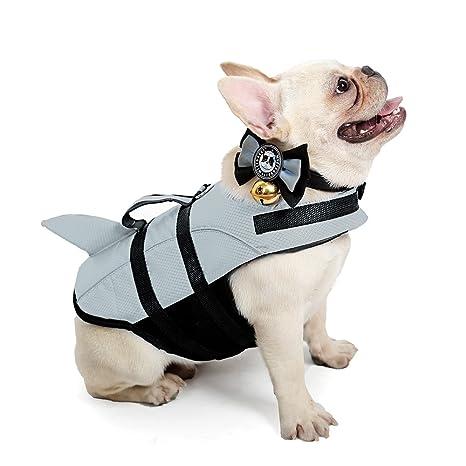 amazon com kimol large dog life jacket shark dog swimming vest