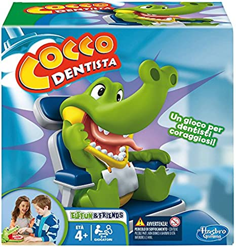5b7753ac2d9e Hasbro Gaming - Cocco Dentista (Gioco in Scatola), B0408103: Hasbro ...