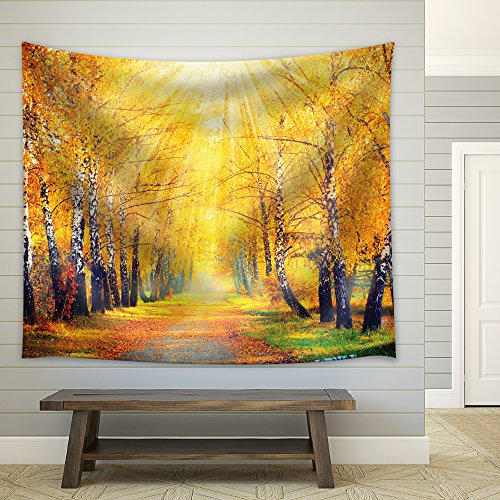 Golden Forest Road Home Decor