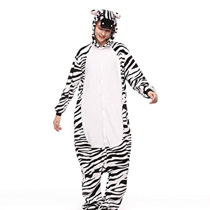 SHANGXIAN Kigurumi Animal Cosplay Disfraz Cebra Unisexo Adulto Pijama Halloween Navidad Regalo,L