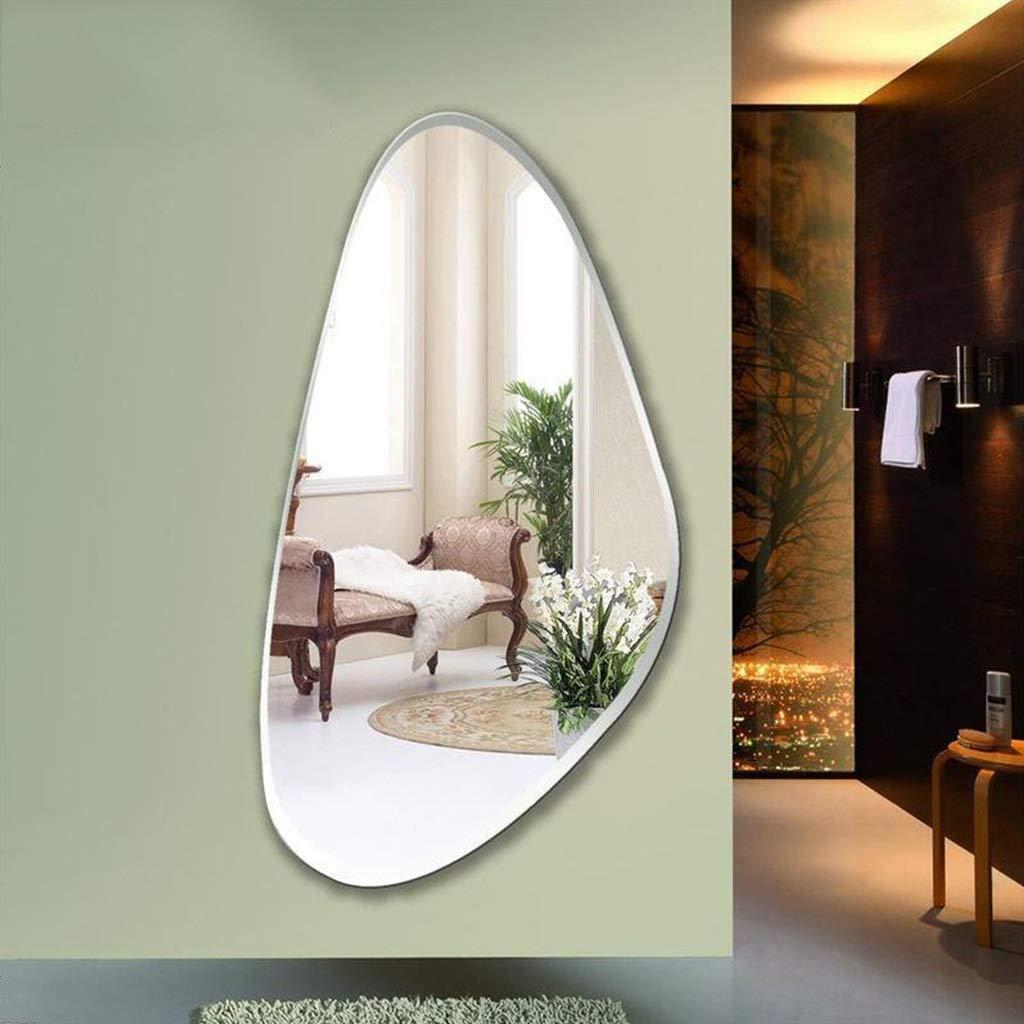 Specchio da Terra Specchio a Forma di Conchiglia Semplice Specchio a Figura Intera a Forma di Conchiglia
