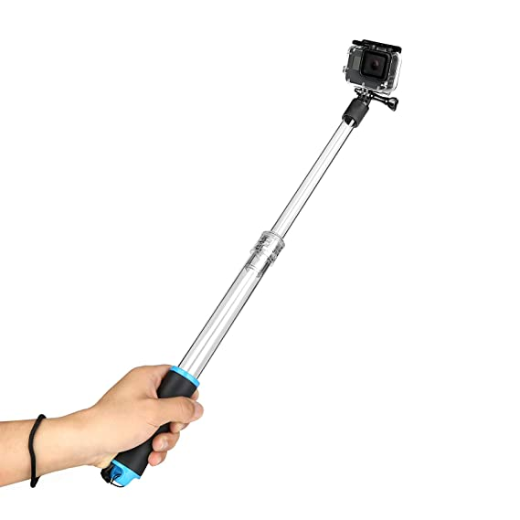 814cd32618bf44 Amazon.com : D&F 22'' Transparent Floating Hand Grip Selfie Stick ...