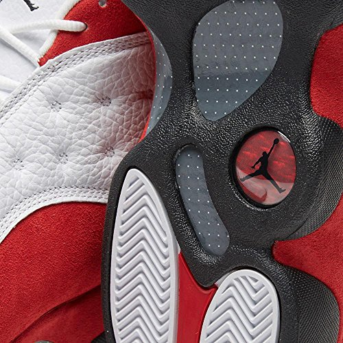 """Herren Jordan Air 13 Retro """"Playoffs"""" Basketballschuhe - 414571 101 Weiß / Schwarz-Rot"""