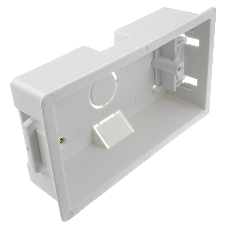 kenable Eagle Dry Lining Back Box Pattress Box 2 Gang 35mm 001651