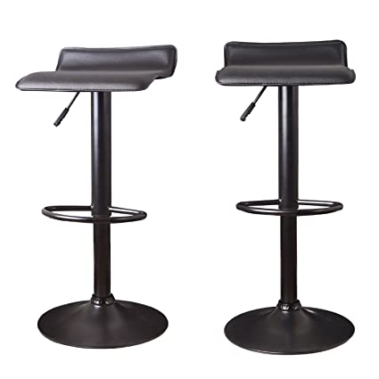 base tufting adjustable lift stool accents joveco dining leather hydraulic pedestal horizontal set white modern channel bar chrome stools of barstool