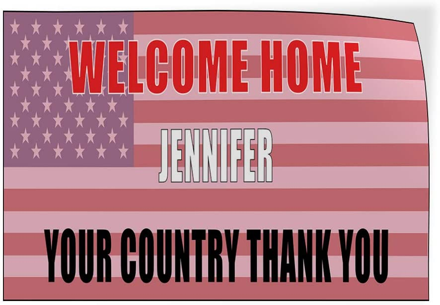 Custom Door Decals Vinyl Stickers Multiple Sizes Welcome Home Country Thanks Red Blue Lifestyle Welcome Home Outdoor Luggage /& Bumper Stickers for Cars Red 28X20Inches Set of 10
