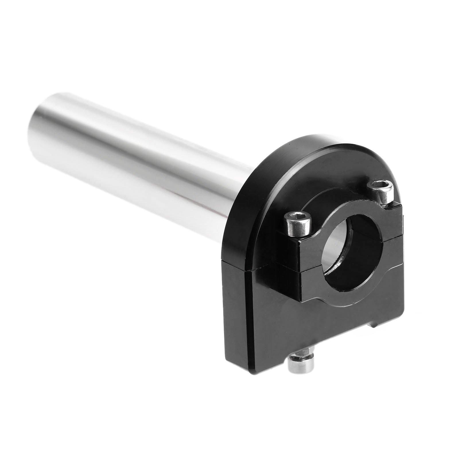 Mtsooning 1Pc Black 7/8 CNC Aluminum Hand Grips Throttle Tube for Honda, Kawasaki, Suzuki, Yamaha, KTM