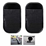 Ganvol (2 Pack) Anti-slip Car Dash Sticky Pads, Heat Resistant Non-Slip Mats, Dashboard Holder (5.3 x 2.7 inch) - Leave no Residue Don't Melt under Hot Temperature, Reusable after Washing off Dust
