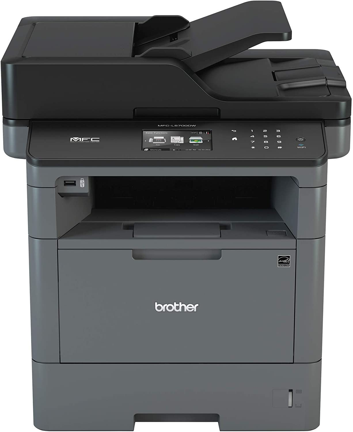 Brother Monochrome Laser Multifunction All-in-One Printer, MFC-L5700DW, Flexible Network Connectivity, Mobile Printing & Scanning, Duplex Printing, ...