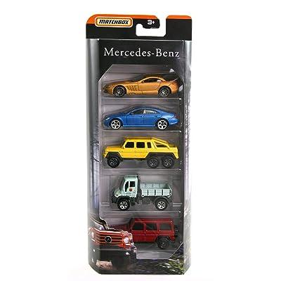 Matchbox Mercedes Benz 5 Pack CLS500,6x6,SLR McLaren,Unimog,G-Class New 2020 MBX: Toys & Games
