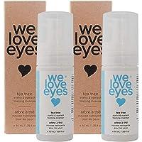 We Love Eyes- Vegan Tea Tree Eyelid Eyelash Foaming Cleanser DOUBLE PACK- Blepharitis, Demodex, Dry Eyes Relief and…