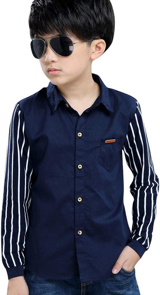 Amazon.com: Camiseta de manga larga para niños de 3 a 13 ...