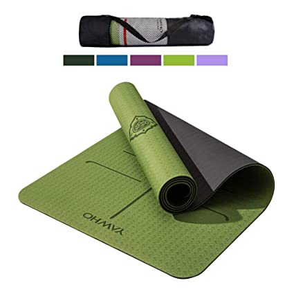 Amazon.com : Yoga mat TPE is Slip-Proof ECO Friendly ...