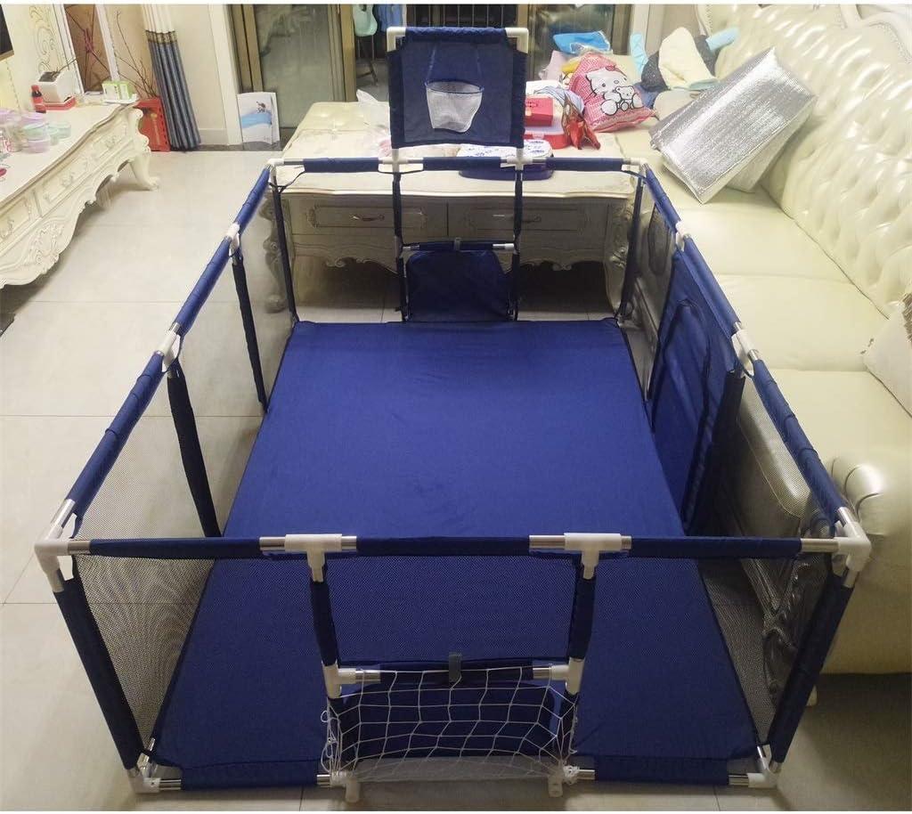 wasserdichtes Oxford-Netz atmungsaktives Pia-Baby Laufstall Blauer Kinderspielzaun Paradies f/ür Kleinkinder geeignet f/ür das Krabbeln zum /Üben