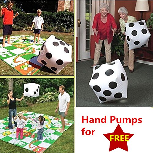 2pcs Giant Inflatable Dice Huge Blow up Dot Kid by Warrrr