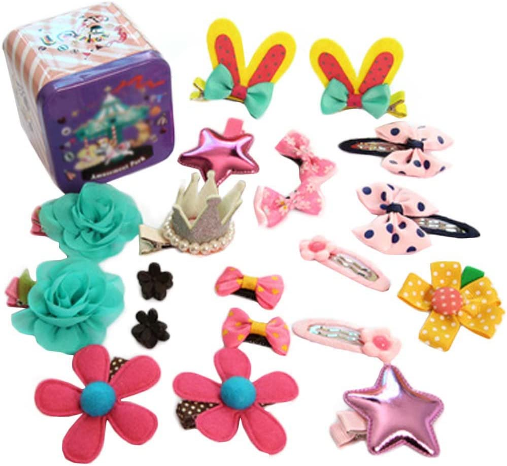 Black Temptation Cute Girls Hair Accessories Hair Clips Hair Bands Conjunto de Joyas Little Girl Presente de cumpleaños #7
