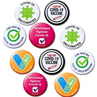 10 pcs Vaccine Button Pins I Got My Covid-19 Vaccine, Health Badges Pins Brooches for Women Men and Kids Vaccinated…